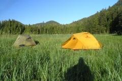 Kayak tent camping