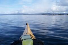 Kayaking calm seas