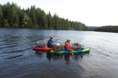 Crabbing with kayaks