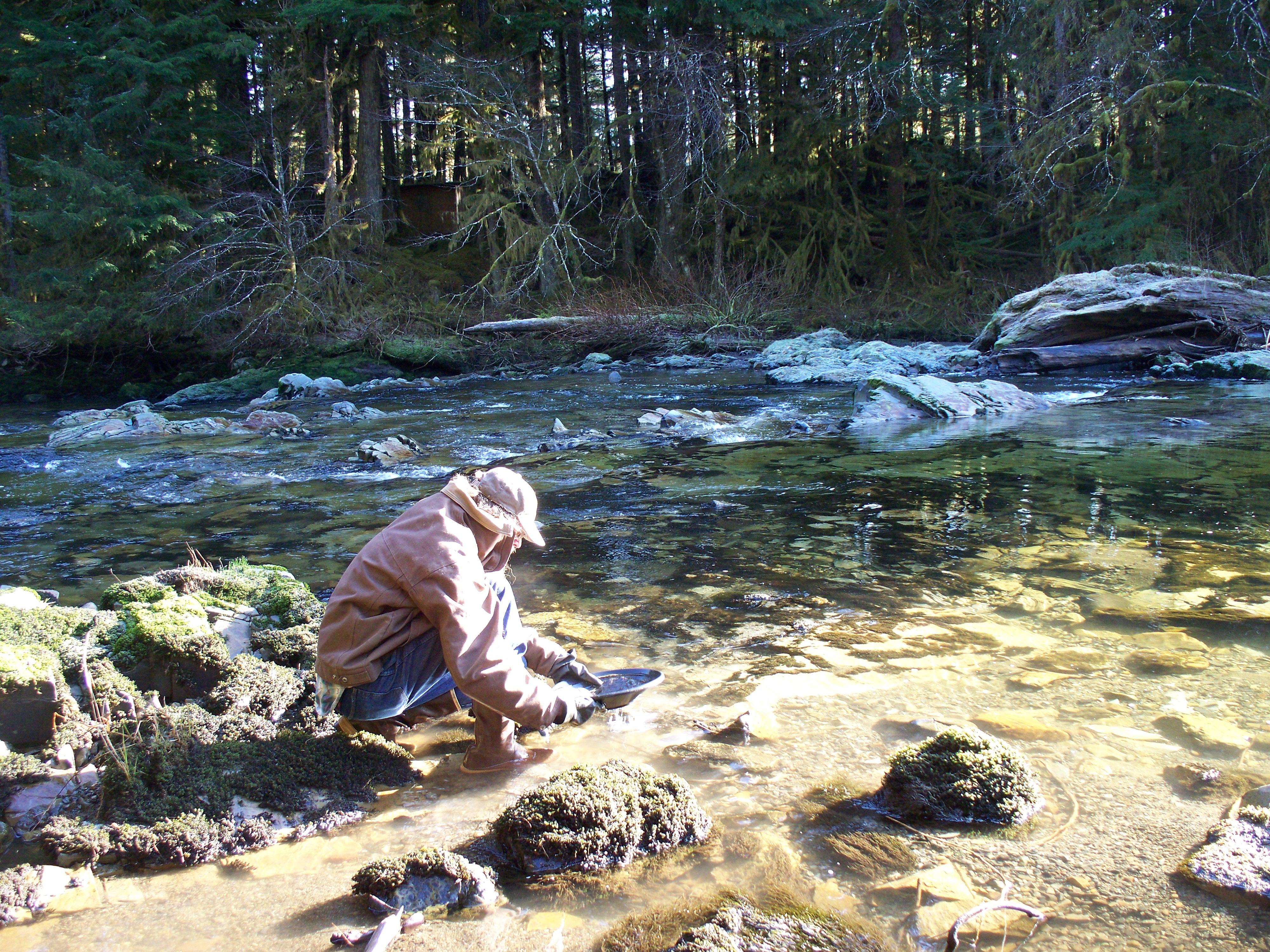 Harris River Gold Panning